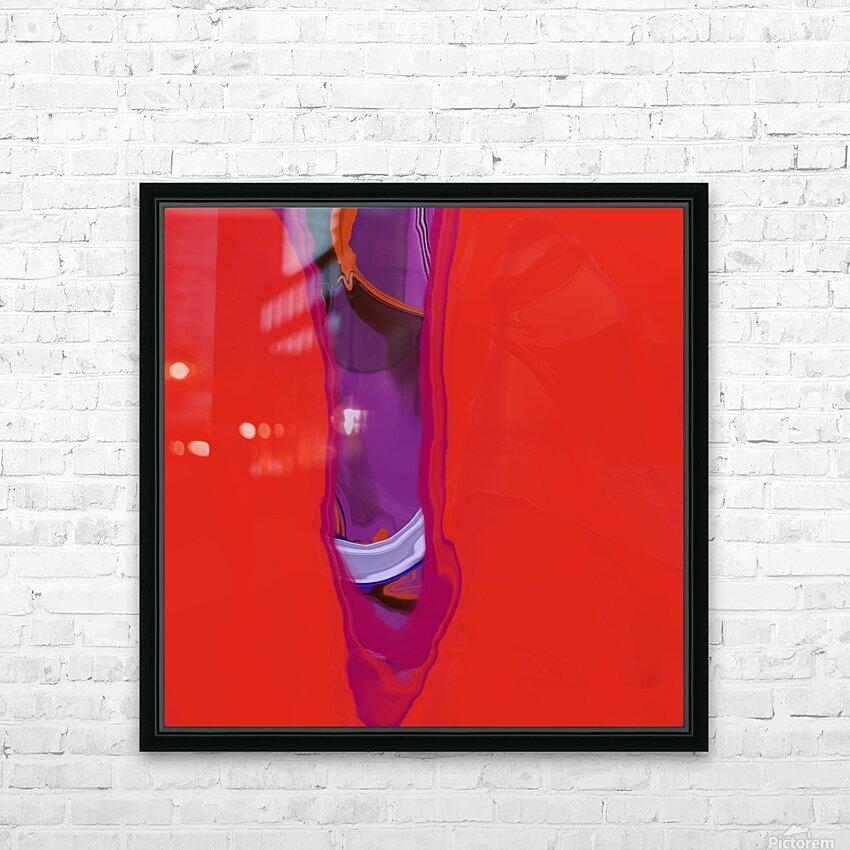 Violet Shape HD Sublimation Metal print with Decorating Float Frame (BOX)