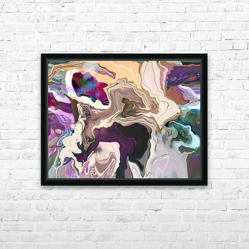 Geode Inside HD Sublimation Metal print with Decorating Float Frame (BOX)