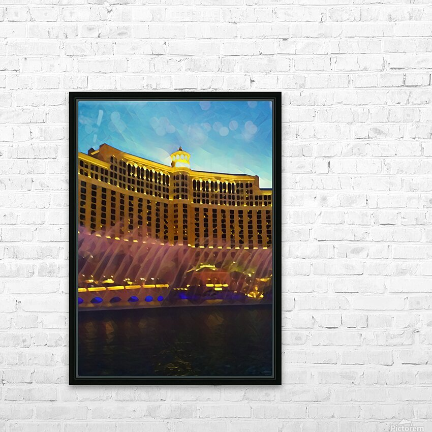 caesars palace fountains HD Sublimation Metal print with Decorating Float Frame (BOX)