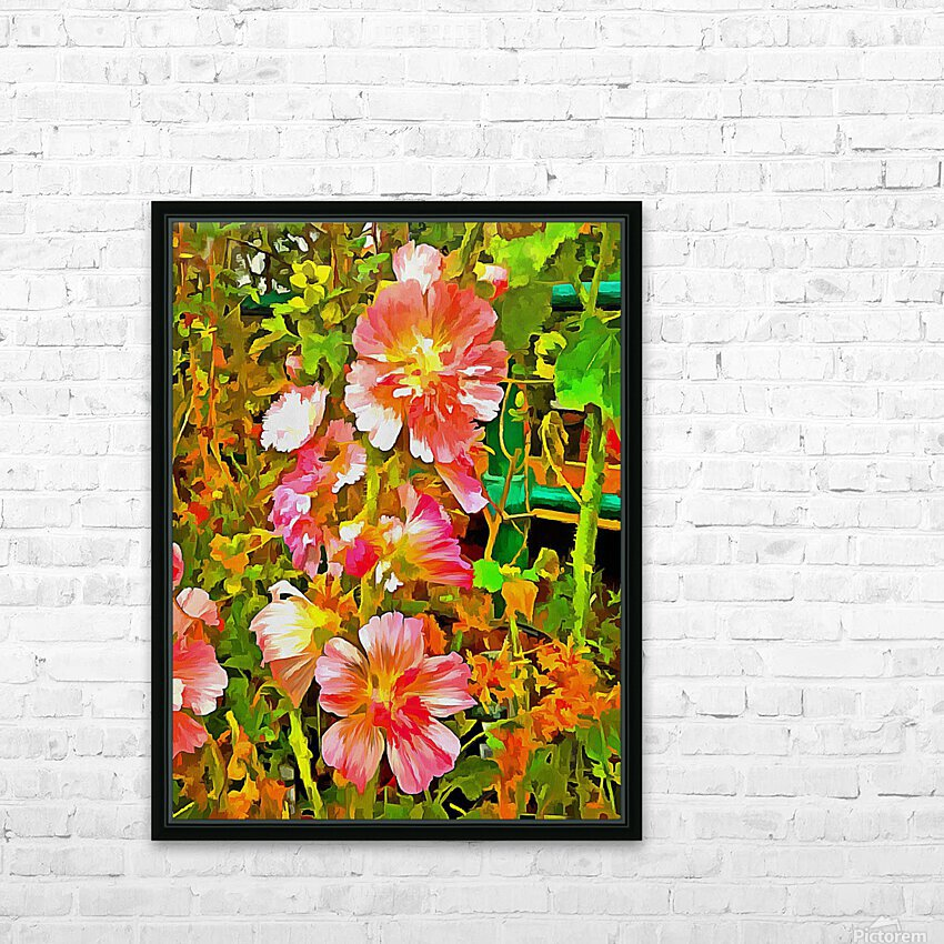 Penstemon Pop Art Style HD Sublimation Metal print with Decorating Float Frame (BOX)
