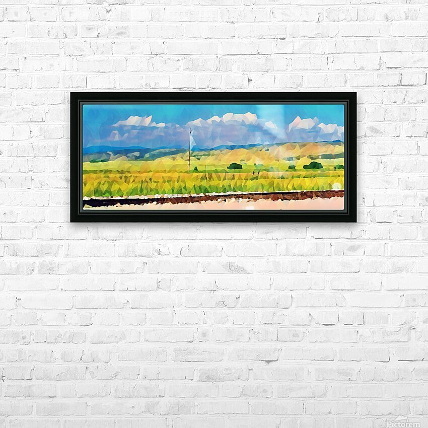colorado skies HD Sublimation Metal print with Decorating Float Frame (BOX)