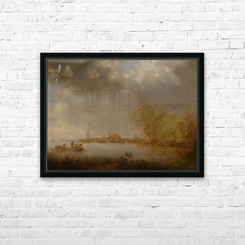 River Scene near Deventer HD Sublimation Metal print with Decorating Float Frame (BOX)