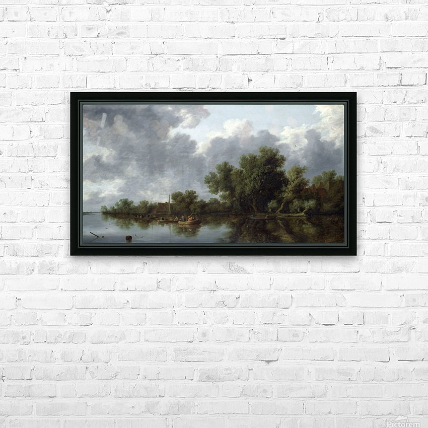 River Scene HD Sublimation Metal print with Decorating Float Frame (BOX)