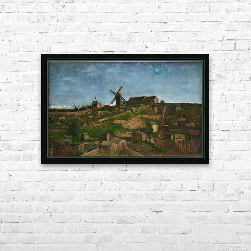 The hill of Monmartre by Van Gogh HD Sublimation Metal print with Decorating Float Frame (BOX)