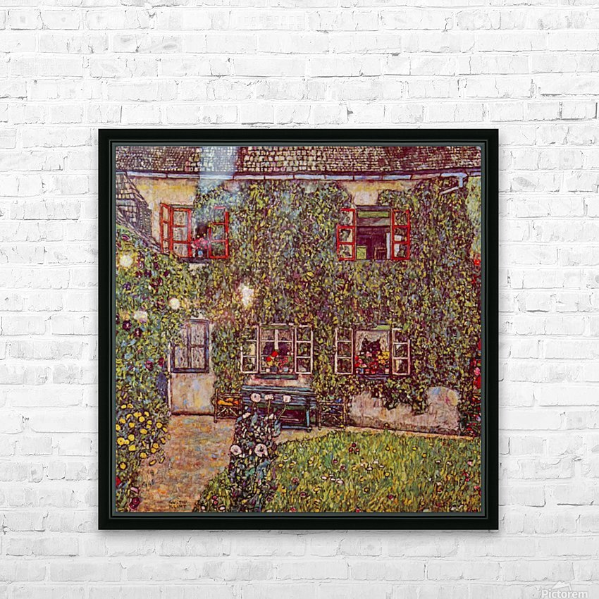 The House of Guard by Klimt HD Sublimation Metal print with Decorating Float Frame (BOX)