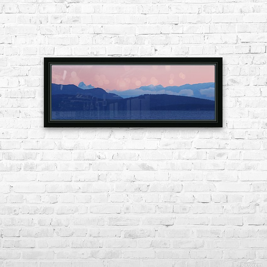 Pink And Blue by Randy Hall HD Sublimation Metal print with Decorating Float Frame (BOX)