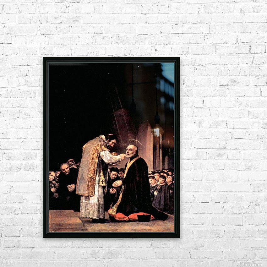 The last communion of St. Joseph of Calasanza by Goya HD Sublimation Metal print with Decorating Float Frame (BOX)