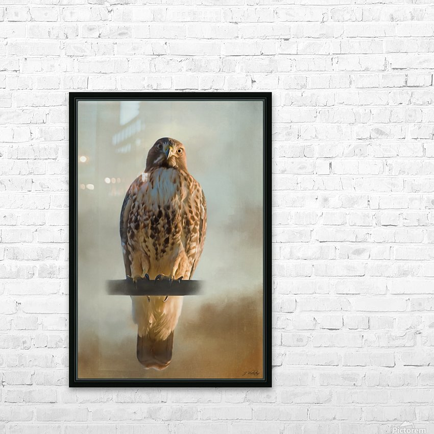 View Life - Hawk Art by Jordan Blackstone HD Sublimation Metal print with Decorating Float Frame (BOX)
