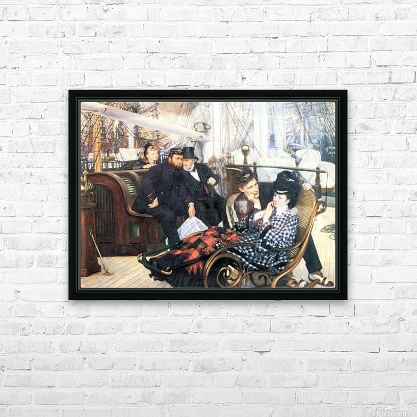 The last evening by Tissot HD Sublimation Metal print with Decorating Float Frame (BOX)