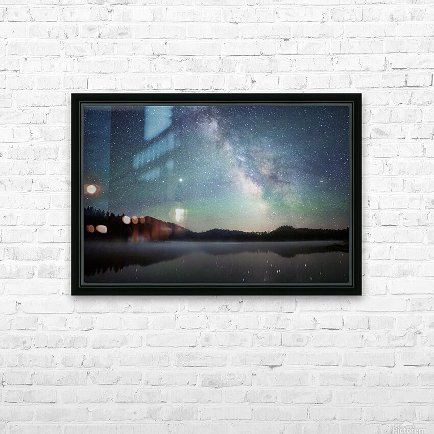 Stockade Lake and The Milky Way HD Sublimation Metal print with Decorating Float Frame (BOX)