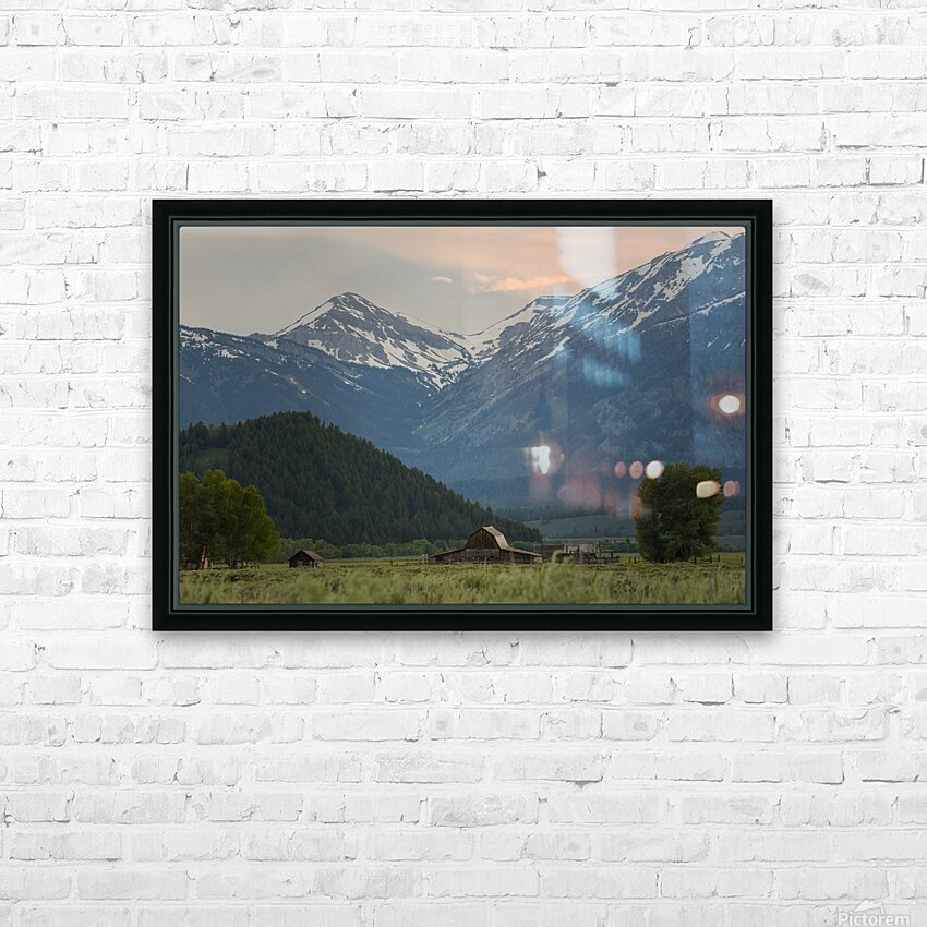The Barn HD Sublimation Metal print with Decorating Float Frame (BOX)