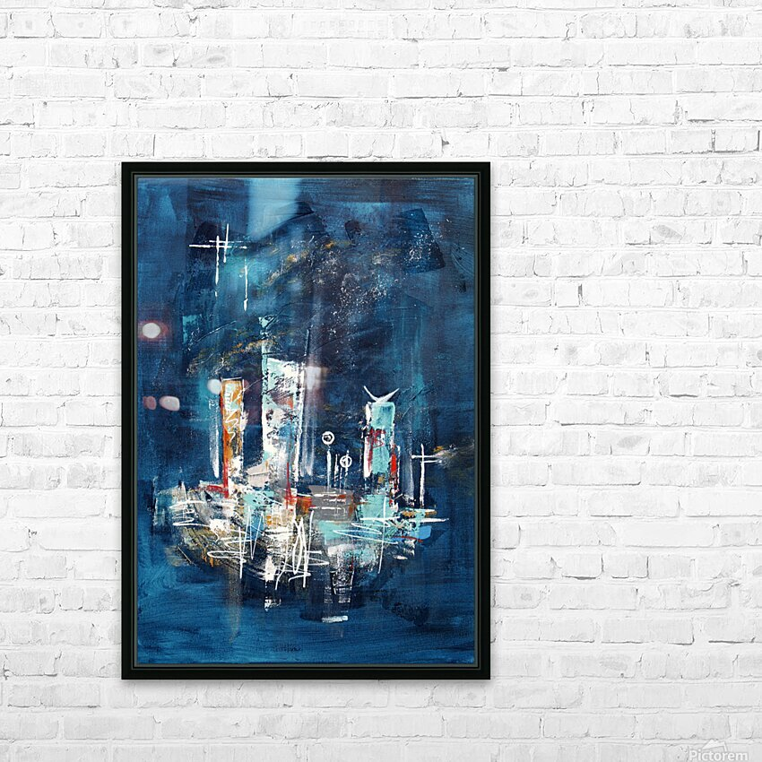 Uptown starry night II HD Sublimation Metal print with Decorating Float Frame (BOX)
