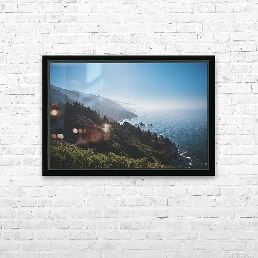 Big Sur California HD Sublimation Metal print with Decorating Float Frame (BOX)