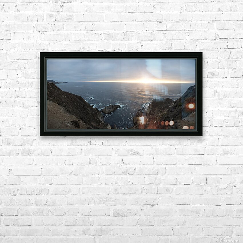 Pacific Coast Sunset HD Sublimation Metal print with Decorating Float Frame (BOX)