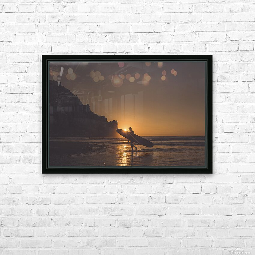 Morro Bay Surfer HD Sublimation Metal print with Decorating Float Frame (BOX)