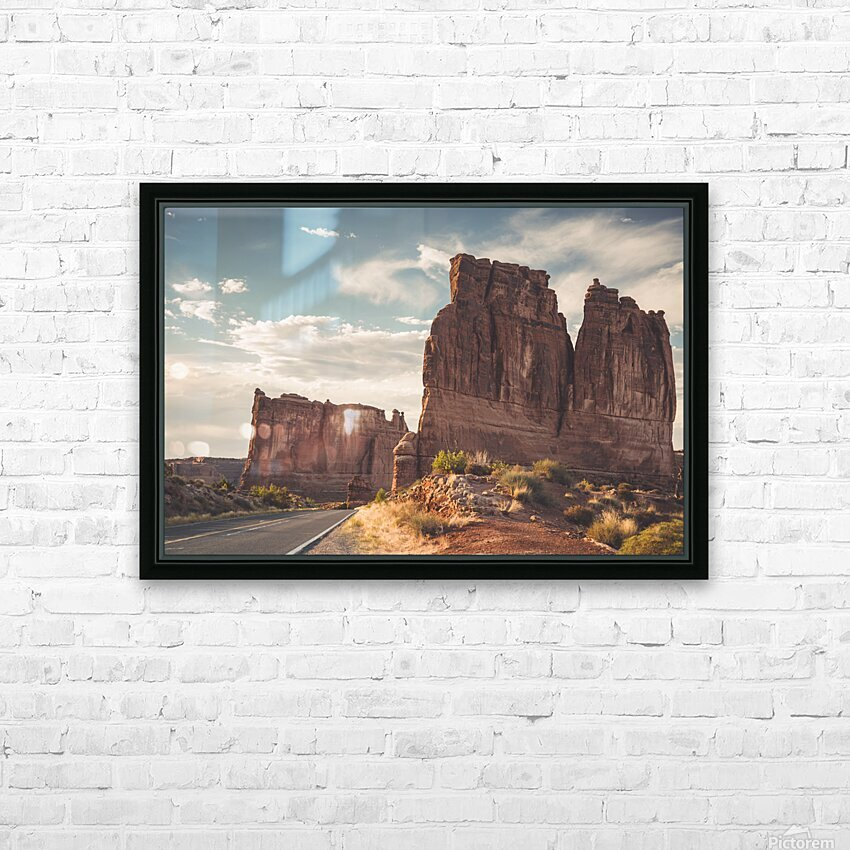 Arches National Park UT HD Sublimation Metal print with Decorating Float Frame (BOX)
