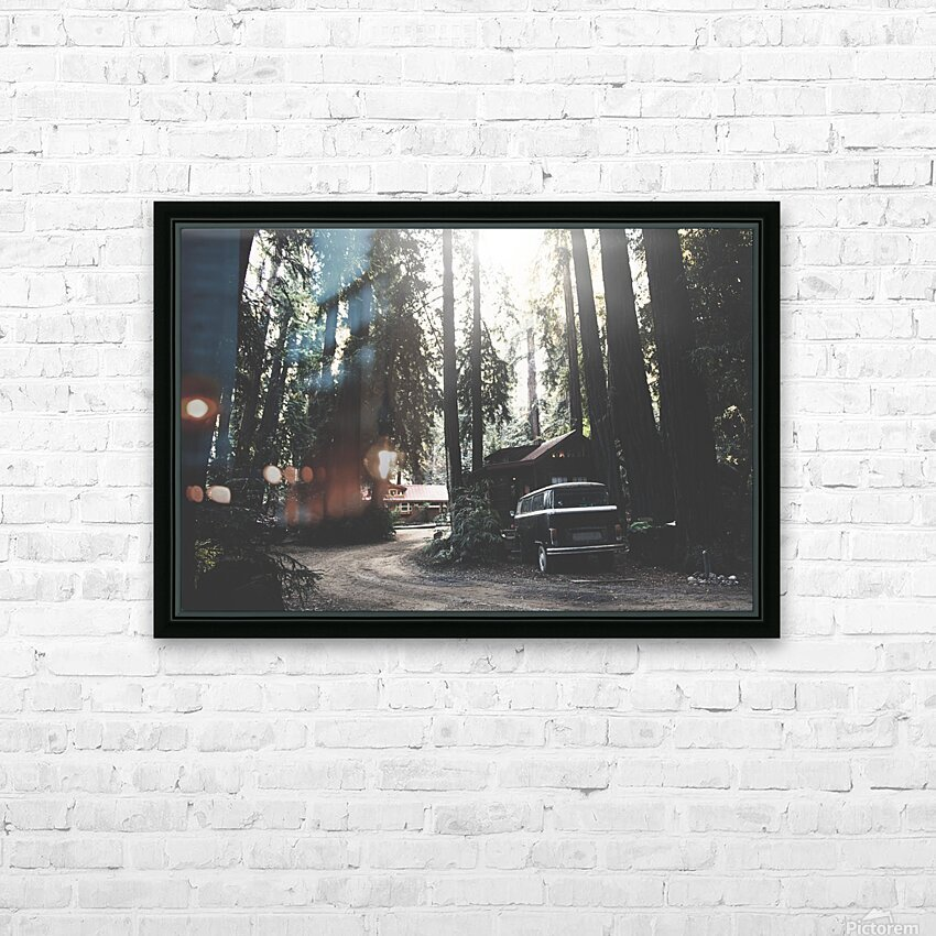 Big Sur Camping HD Sublimation Metal print with Decorating Float Frame (BOX)
