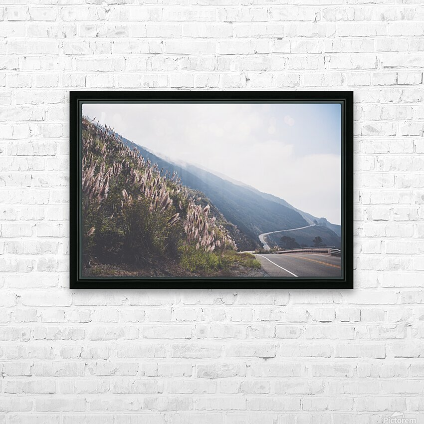 Pacific Coast Highway HD Sublimation Metal print with Decorating Float Frame (BOX)