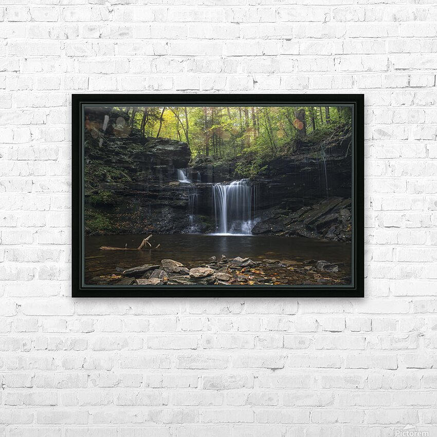 RB Ricketts Falls HD Sublimation Metal print with Decorating Float Frame (BOX)