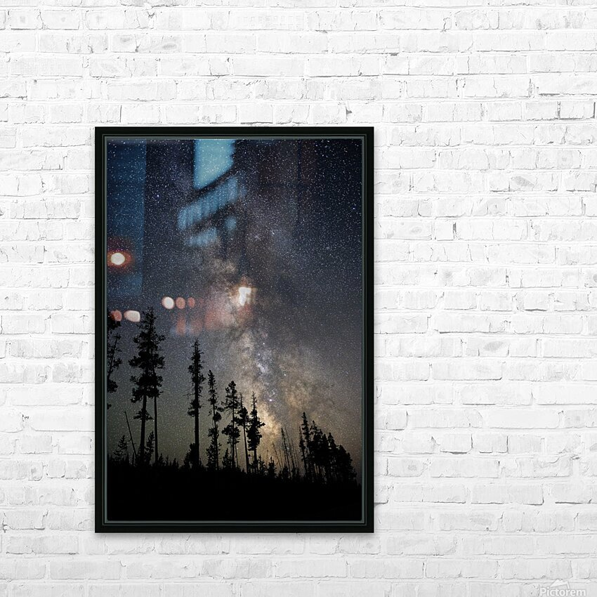 Yellowstone Milky Way HD Sublimation Metal print with Decorating Float Frame (BOX)