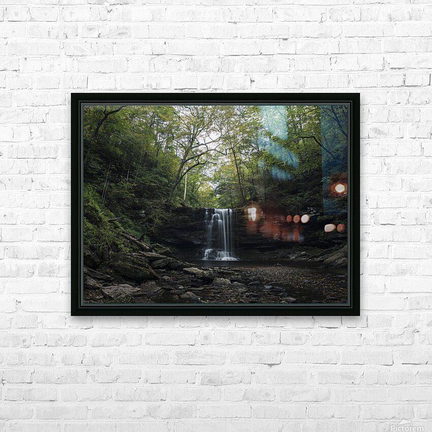 Harrison Wright Falls HD Sublimation Metal print with Decorating Float Frame (BOX)