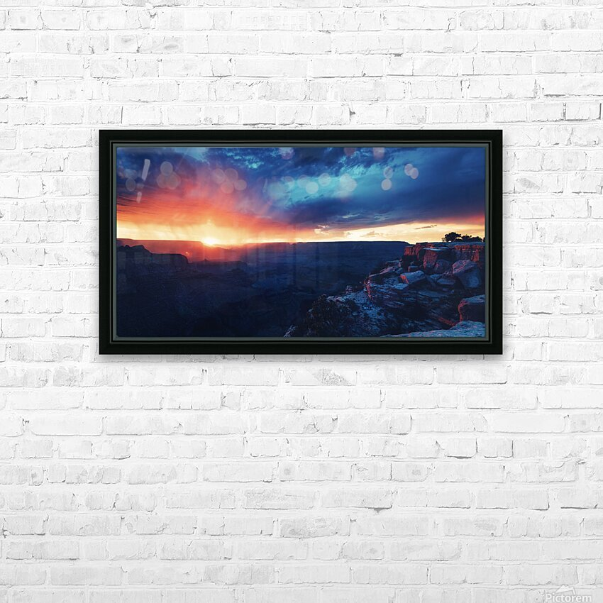 The Grandest Sunset HD Sublimation Metal print with Decorating Float Frame (BOX)