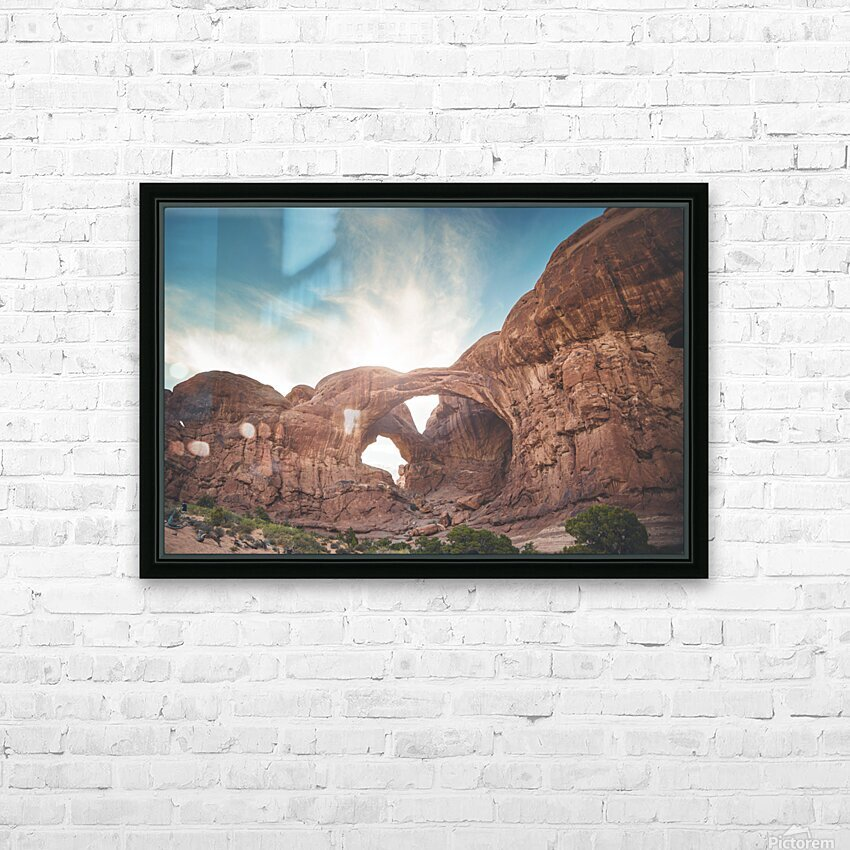 The Double Arch HD Sublimation Metal print with Decorating Float Frame (BOX)