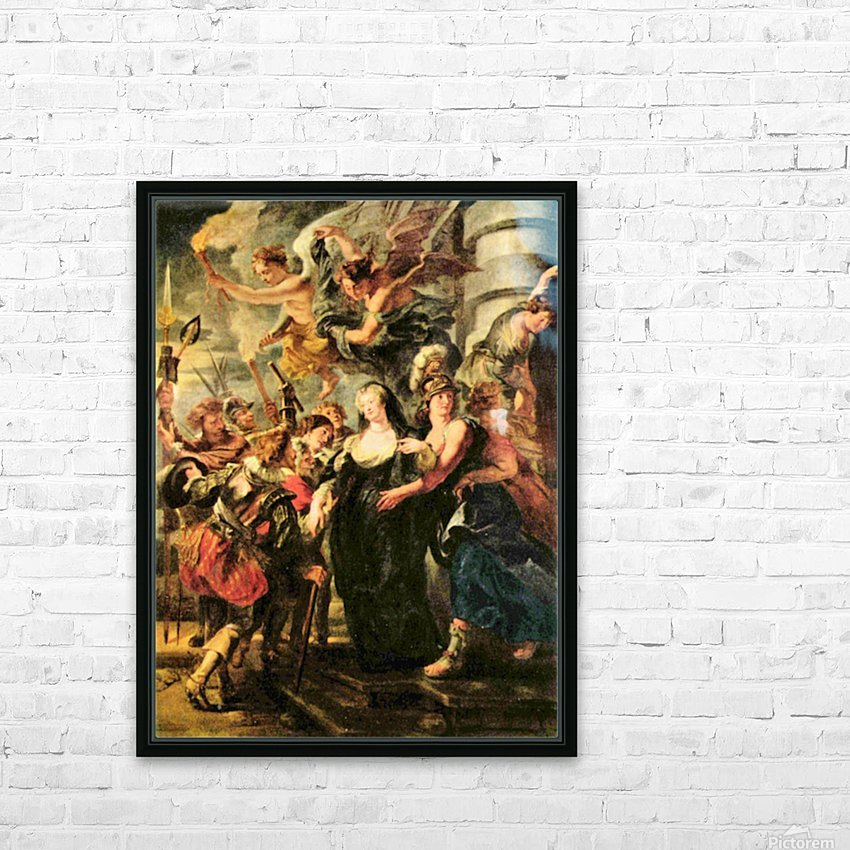 The Medici s queen escapes from Blois by Rubens HD Sublimation Metal print with Decorating Float Frame (BOX)