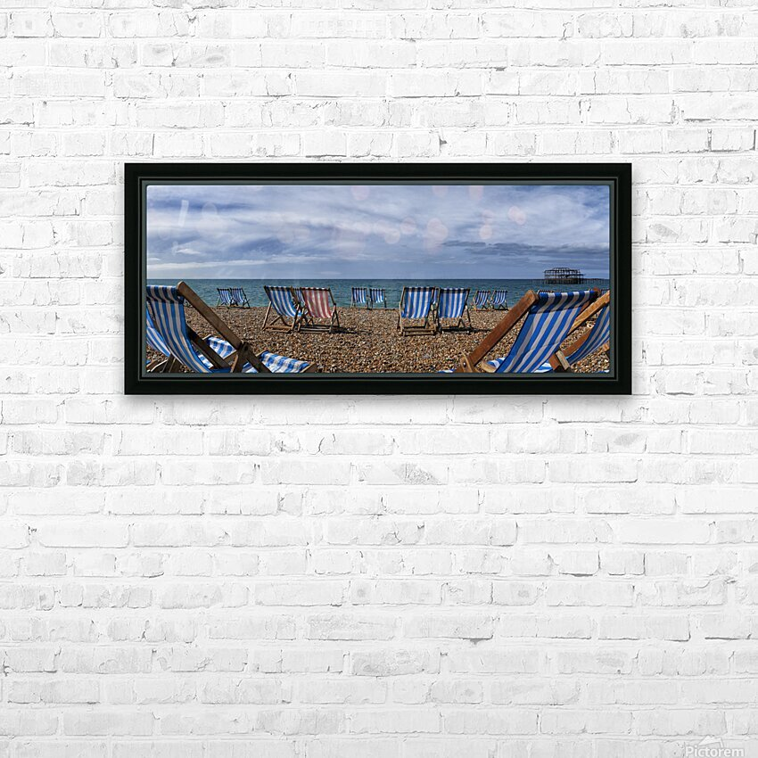 Deckchairs In Brighton HD Sublimation Metal print with Decorating Float Frame (BOX)