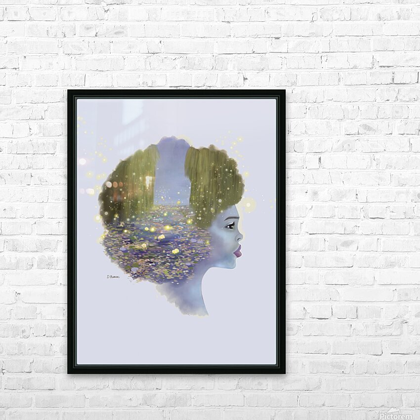 Weeping Willow HD Sublimation Metal print with Decorating Float Frame (BOX)