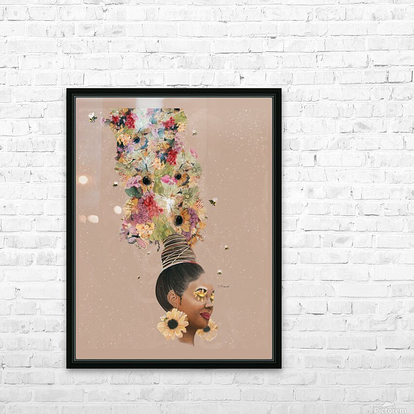 Flower Power HD Sublimation Metal print with Decorating Float Frame (BOX)