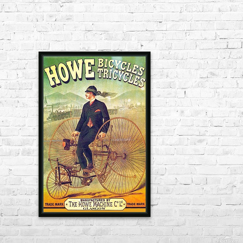 Howe Bicycles HD Sublimation Metal print with Decorating Float Frame (BOX)