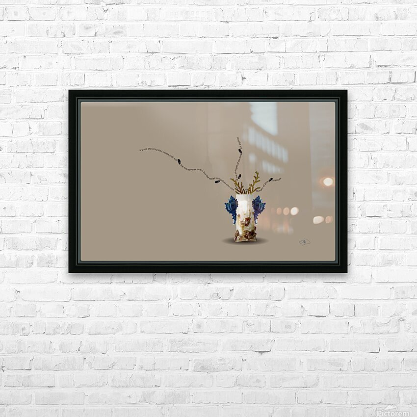 Encysted HD Sublimation Metal print with Decorating Float Frame (BOX)