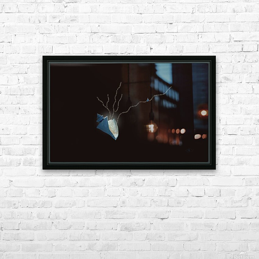 Herbarium HD Sublimation Metal print with Decorating Float Frame (BOX)