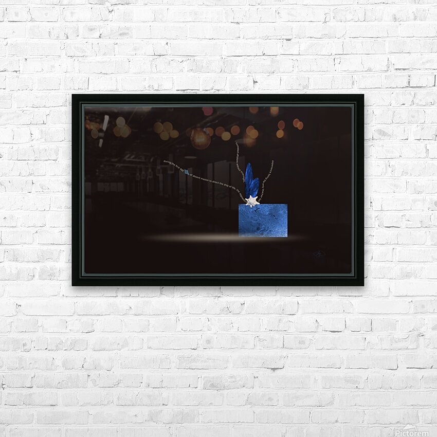cutting the Cord HD Sublimation Metal print with Decorating Float Frame (BOX)