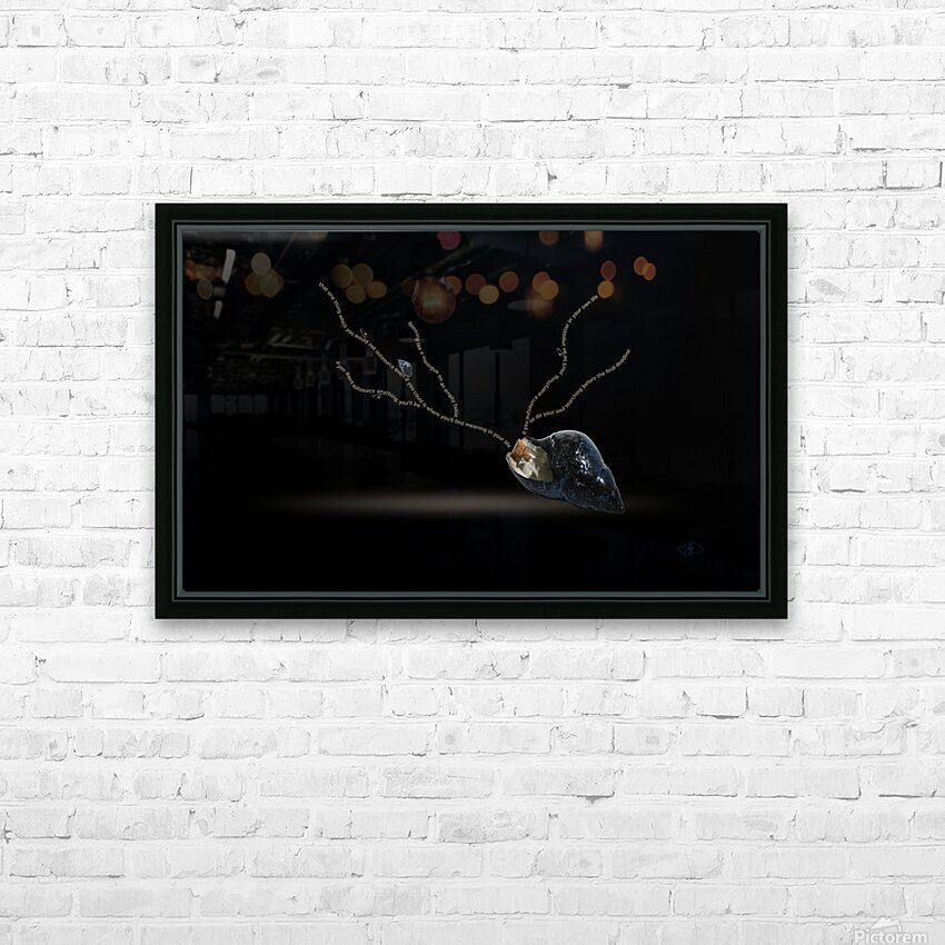 Cerebration HD Sublimation Metal print with Decorating Float Frame (BOX)
