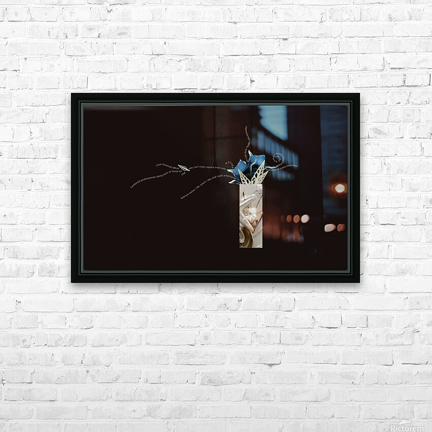 unpaid and unsung HD Sublimation Metal print with Decorating Float Frame (BOX)