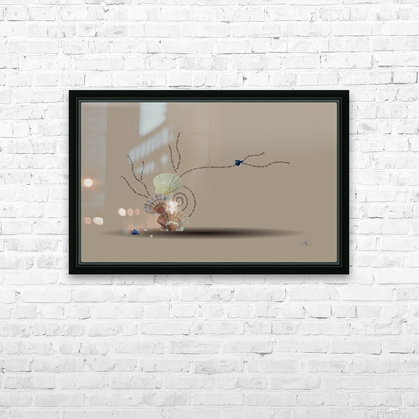 Incensed HD Sublimation Metal print with Decorating Float Frame (BOX)