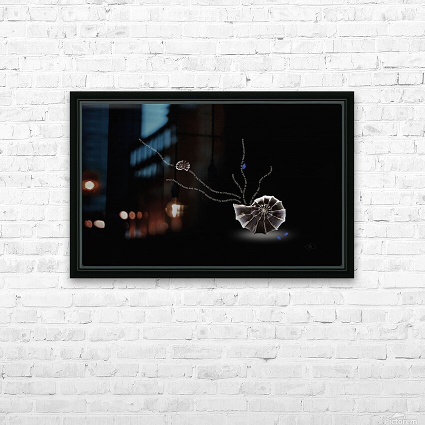 Where Are You Now HD Sublimation Metal print with Decorating Float Frame (BOX)