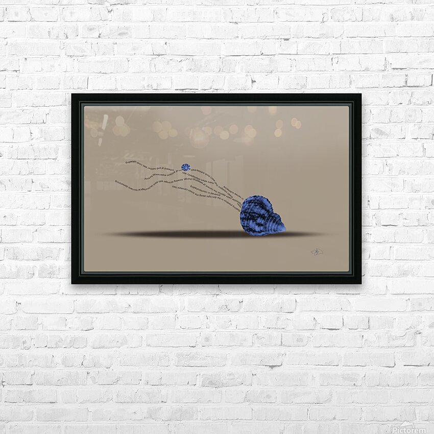 Plankton HD Sublimation Metal print with Decorating Float Frame (BOX)