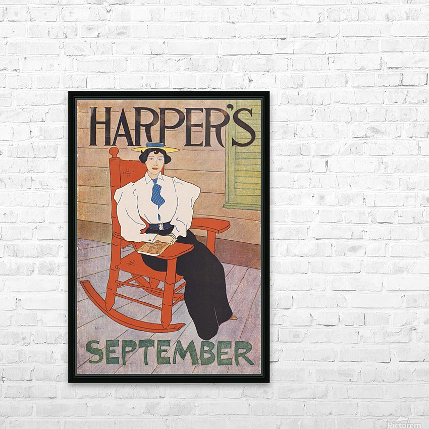 Harper's September HD Sublimation Metal print with Decorating Float Frame (BOX)