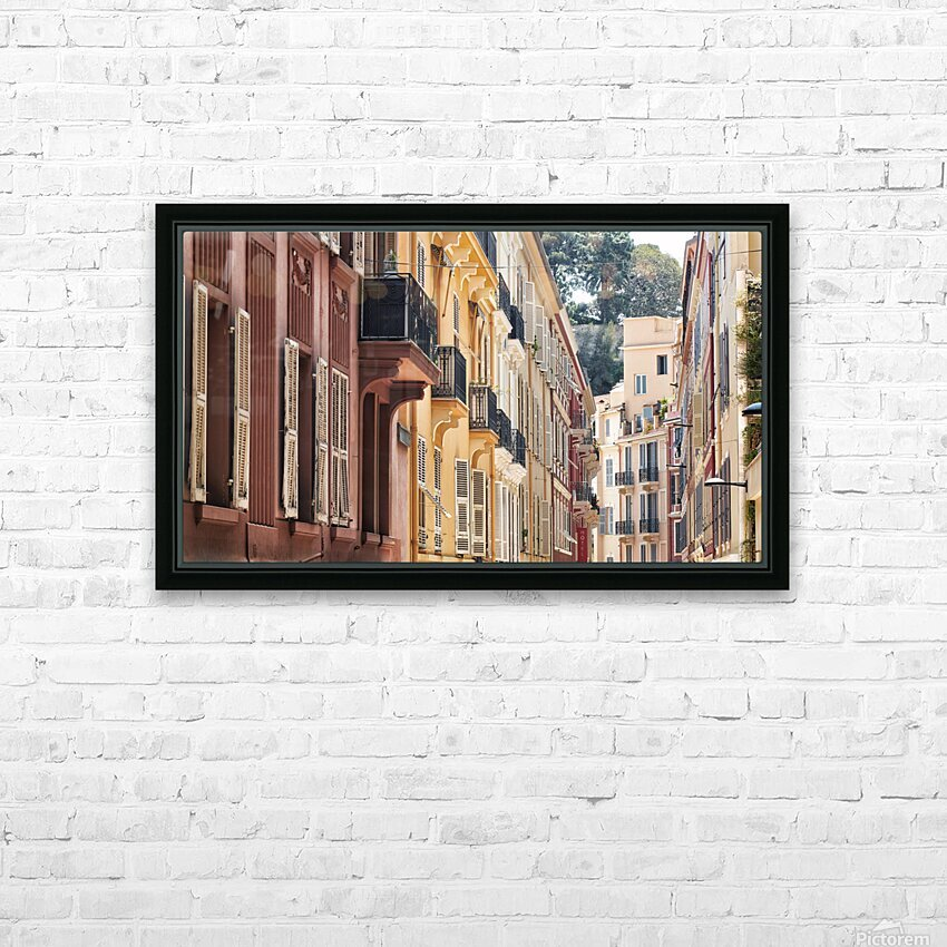 Monaco Street HD Sublimation Metal print with Decorating Float Frame (BOX)