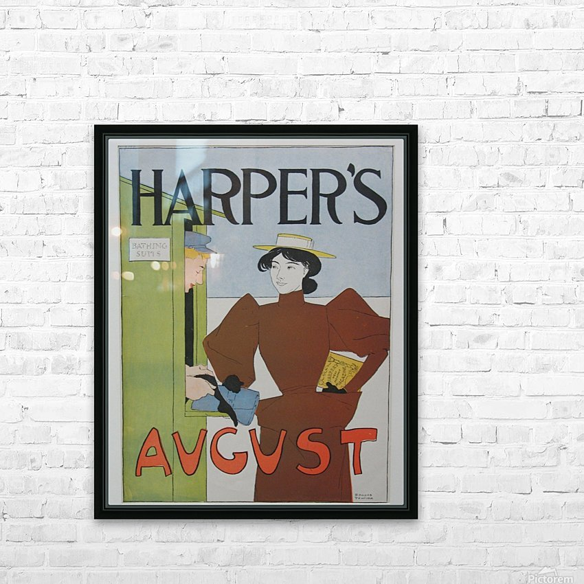 Harper's August Bathing HD Sublimation Metal print with Decorating Float Frame (BOX)