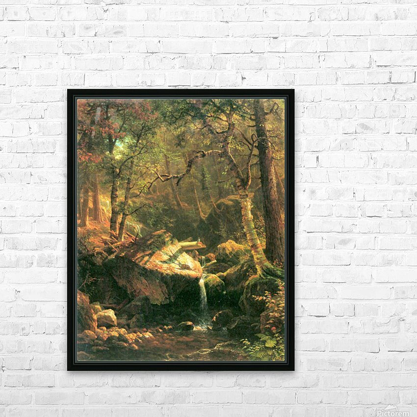 The Mountain by Bierstadt HD Sublimation Metal print with Decorating Float Frame (BOX)