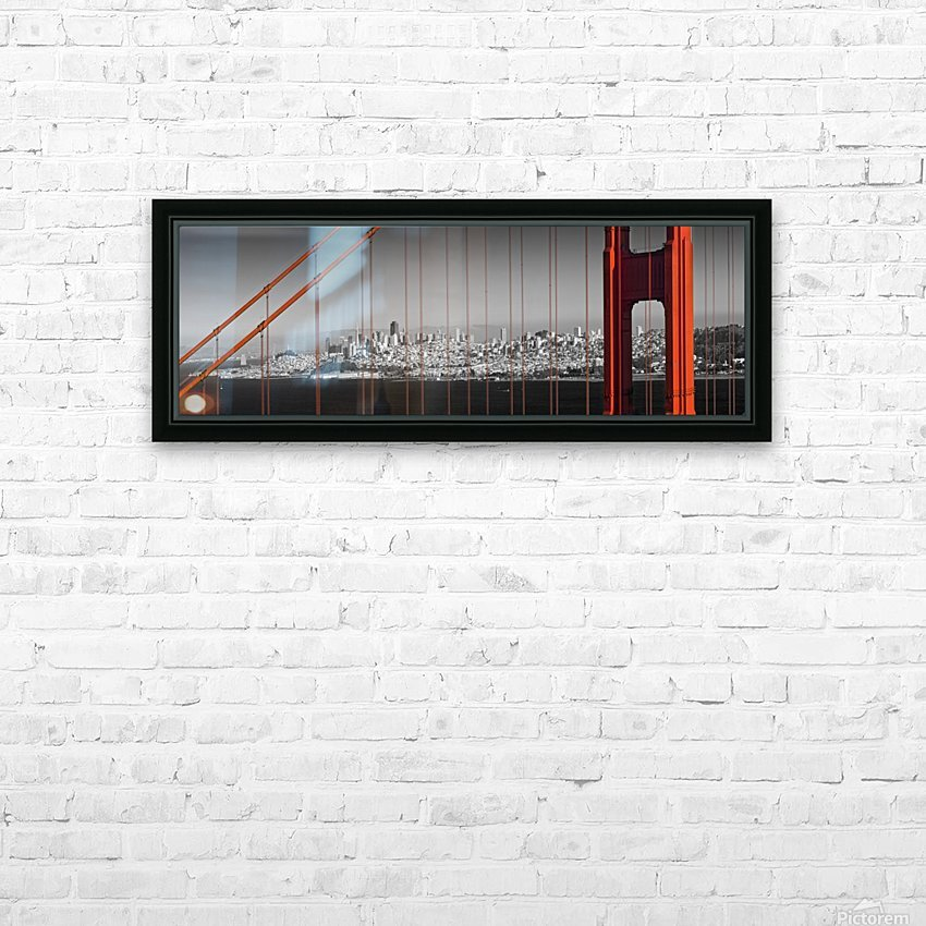 Golden Gate Bridge Panoramic Downtown View HD Sublimation Metal print with Decorating Float Frame (BOX)