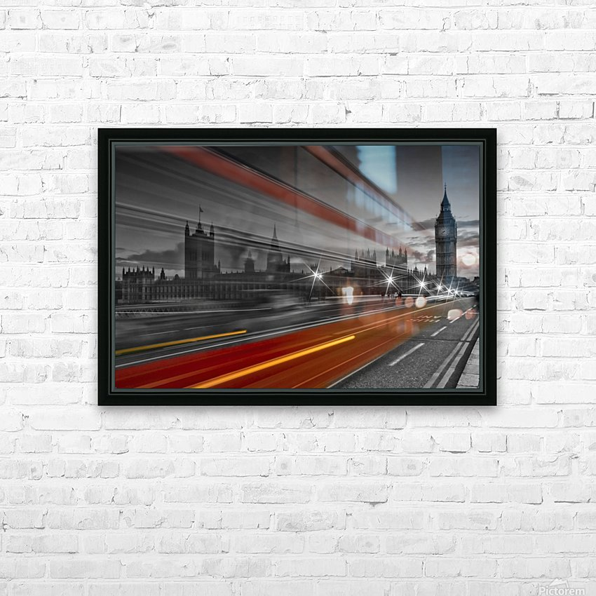 LONDON Red Bus HD Sublimation Metal print with Decorating Float Frame (BOX)