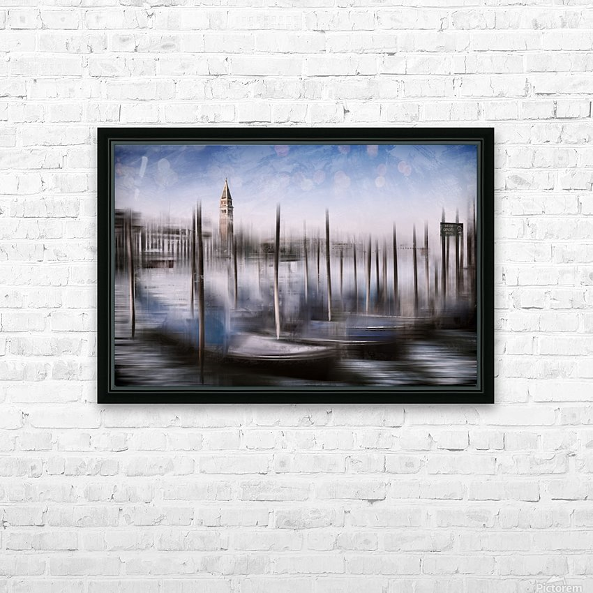 Digital-Art VENICE Grand Canal and St Mark's Campanile HD Sublimation Metal print with Decorating Float Frame (BOX)