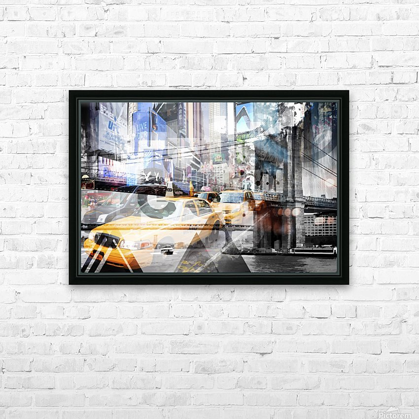 New York City Geometric Mix No. 9 HD Sublimation Metal print with Decorating Float Frame (BOX)