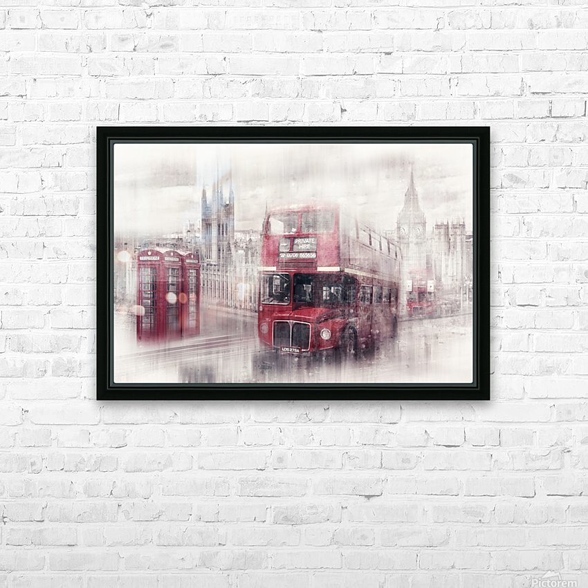 City-Art LONDON Westminster Collage II HD Sublimation Metal print with Decorating Float Frame (BOX)
