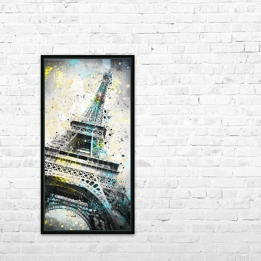 City-Art PARIS Eiffel Tower IV HD Sublimation Metal print with Decorating Float Frame (BOX)